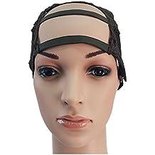 BF U fai da te parte spacco frontale ampia tessitura medio parrucca Cap maglie cinturino regolabile CODE: 1238F