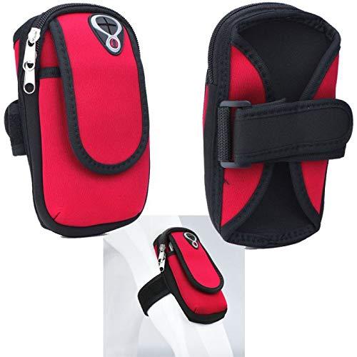 Supercase24 Sport Armband für Switel M220 Handy Hülle Tasche Schutzhülle Case Fitness Armtasche