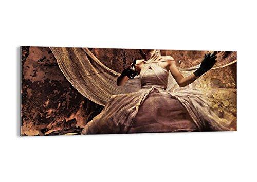 Bild auf Glas - Glasbilder - Einteilig - Breite: 120cm, Höhe: 50cm - Bildnummer 0217 - zum Aufhängen bereit - Bilder - Kunstdruck - GAB120x50-0217 (Schauspielerin Halloween-kostüme Film)