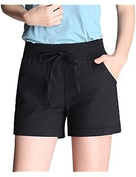 YiLianDa Pantalones Cortos con Summer Pantalones de Diseño de Playa
