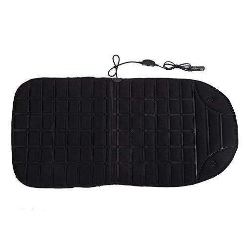 Sedeta® noir DC12V chauffe-siège chauffant pad Couvercles chauffants Coussin chauffant pour les véhicules des chaises de bureau en hiver