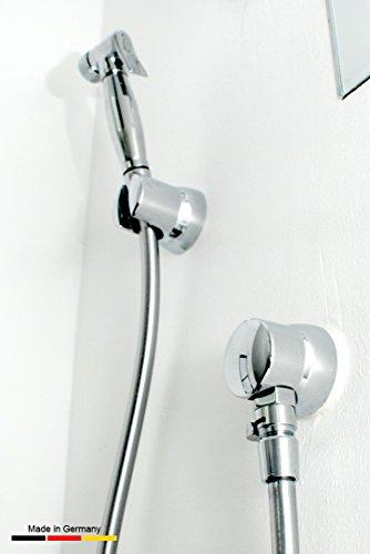 AnuGen WC-Hygienebrause UP runde Version, für nahezu jedes bestehende WC-System mit Kunststoffspülkasten inkl. Verbindungseinheit.Hier als Version für Unterputzspülkasten (nachrüstbar, oder auch bei Neuinstallation), Bidet, Armatur, Shataff, Brause, Intimdusche, Intimbrause, Taharat, Taharet