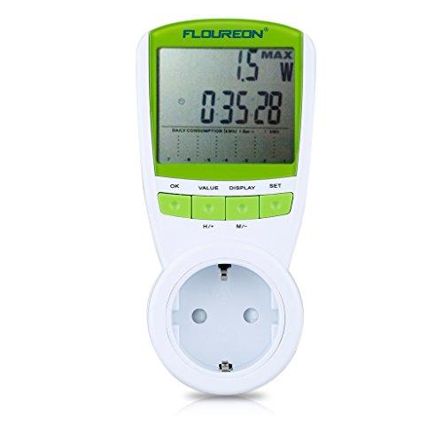 Floureon TS838 - Medidor de potencia, Monitor de energía con función de protección de sobrecarga