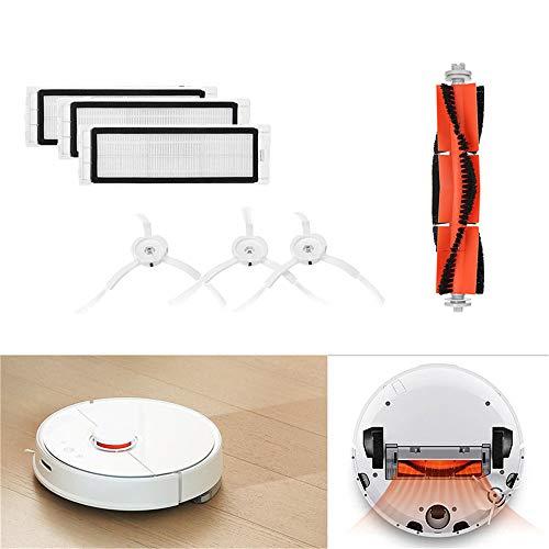 Gaddrt Bürstenfilter Seitenbürsten Zubehör für XIAOMI Robot Vacuum Home Appliance Ersatz-waschbare Filter für Xiaomi Mi (D)