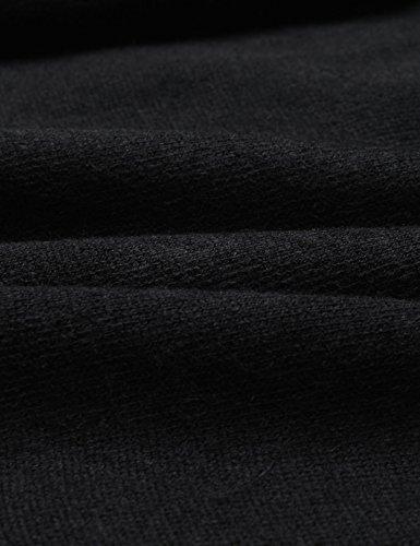 NEARKIN Herren Strickjacke, Durchgehend X-Large NKNKKT731-BLACK