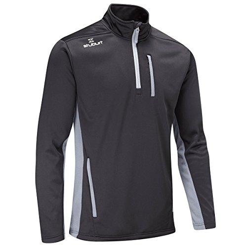 Stuburt Golf 2017 Mens Endurance Sports Thermal Half Zip WindProof Fleece Pullover Black XL Half Zip Thermal