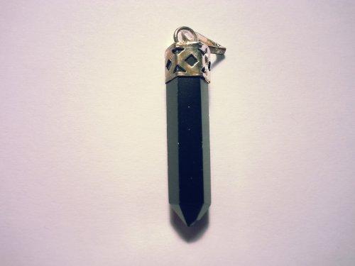 Pendentif pierre précieuse / gemme Améthyste Cristal de roche Aventurine et plus (tourmaline noire)