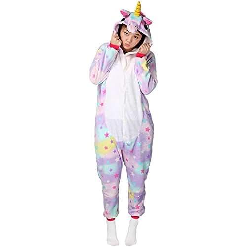 pijama de unicornio kawaii Unicorn Pijamas Disfraz Adulto Kigurumi Unisex Adulto Cosplay Animales Trajes Carnaval Pijamas Ropa-Très Chic Mailanda