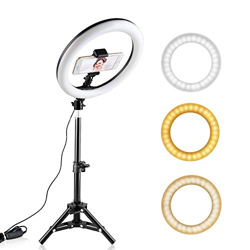 10inch Ringlicht 26cm USB Dimmable Annular Lampe LED Ringlampe mit Telefonhalter Stativ Make-up Ringlampe für Video -