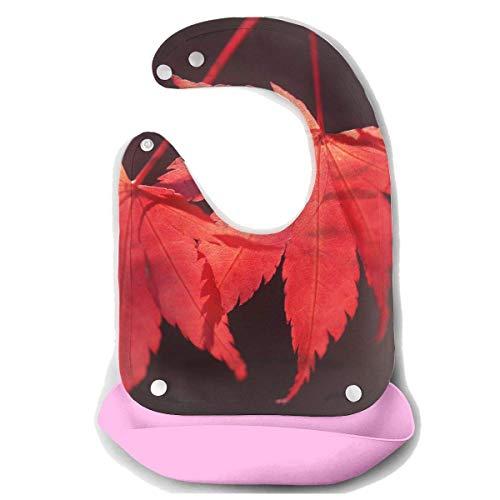 Liumiang L?tzchen Red Maple Baby's Bionic Bib Silicone Silicone Bibs,Eco-Friendly Non-Toxic Adjustable