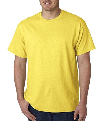 T-shirt à manches courtes Gildan pour homme (L) (Jaune)