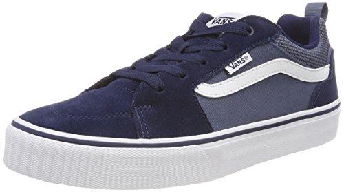 Vans Jungen FILMORE Suede/Canvas Sneaker, Blau Dress Blues/Vintage Indigo T2l, 31 EU (Shoes Suede Kinder-blue)