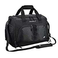 """Ultimate Gym Bag 2.0: The Durable Crowdsource Designed Duffel Bag with 10 Optimal Compartments Including Water Resistant Pouch (Black, Small (15""""))"""