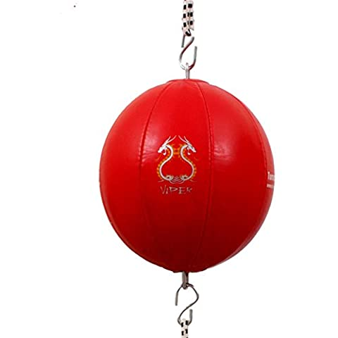 TurnerMAX Quality rexion Double End Ball Punching Ball D Ball with Elasticated Straps, Red