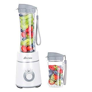 Blender Juicer Two Bottle (600 ml & 400 ml) Portable Sports Mix Juice Drink 3 Speed Gear Tritan Material White B2