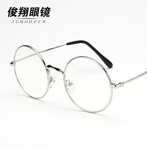 eine runde brille, retro - flache spiegel weibliche persönlichkeit flut männlichen modelle der ultraleichte metall art rahmen runde mit myopie,sammlung von gegenständen