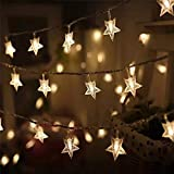 Satyam Kraft 3 Meter 20 Star String Lights for Indoor Outdoor Decoration Diwali Light for Party Birthday Diwali Christmas Navratri Valentine Gift Home Decoration Light (3 Meter 20 Star String Light)