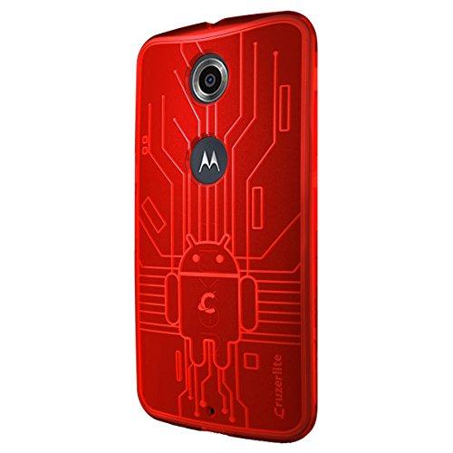 CruzerLite Nexus6-Circuit-Red Bugdroid Schluss Schutzhülle für Motorola Nexus 6 rot