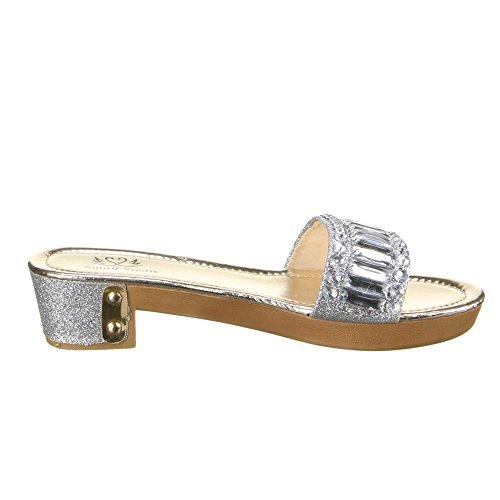 Ital-Design - Sneaker Donna Argento (argento)