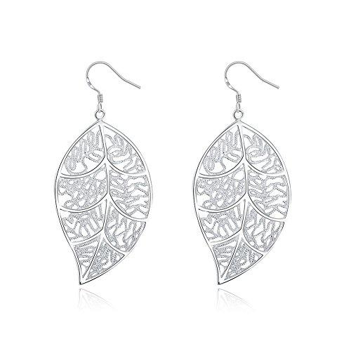 KOLOVEADA 925 Silber Damen Ohrringe mit Blumenanhänger Ohrringe Tropfen für Damen