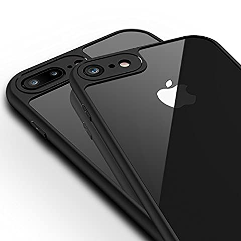 iPhone 6 Plus Case, iPhone 6S Plus Case, OWM [World's Thinnest Bumper Case] Phone Cover Black Designer Slim TPU Silicone with Clear Transparent Hard Back iPhone 6s Plus/ iPhone 6 Plus Cover with [FREE Screen Protector] 5.5 inch iPhone 6/6s Plus