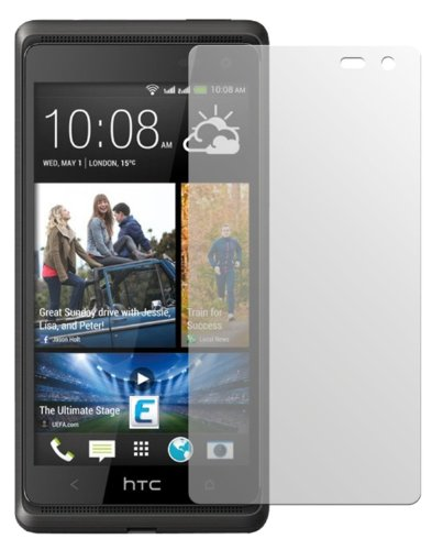 dipos HTC Desire 600 Schutzfolie (2 Stück) - Antireflex Premium Folie matt