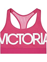 cf3039cf4cc Victoria s Secret VSX Victoria Sport New Womens Bralette Sports Bra -  Pink White (Small