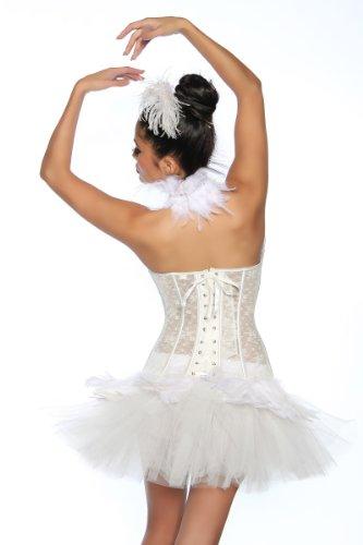 White Black Kostüm Und Swan - Tutu - Petticoat - weiß