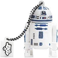 Tribe Disney Star Wars R2D2 USB Stick 16GB Pen Drive USB Memory Stick Flash Drive, Gift Idea 3D Figure, PVC USB Gadget with Keyholder Key Ring - White