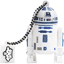 Tribe Disney Star Wars R2D2 USB Stick 8GB Speicherstick 2.0 High Speed Pendrive Memory Stick Flash Drive, Lustige Geschenke 3D Figur, USB Gadget aus Hart-PVC mit Schlüsselanhänger – Weiss