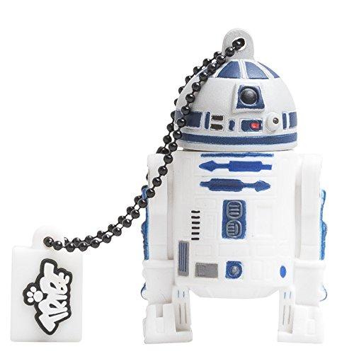 Tribe Disney Star Wars R2D2 USB Stick 16GB Speicherstick 2.0 High Speed Pendrive Memory Stick Flash Drive, Lustige Geschenke 3D Figur, USB Gadget aus Hart-PVC mit Schlüsselanhänger – (Bei Disney Wars Star)