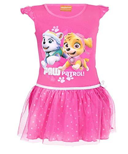 Paw Patrol Mädchen Offiziell Lizenzierte Skye Everest Print Cotton-Kostüm-Kleid Alter 4 ()