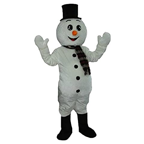 Mascottes Cartoon Costumes - Blanc Bonhomme de neige mascotte Costume Cartoon