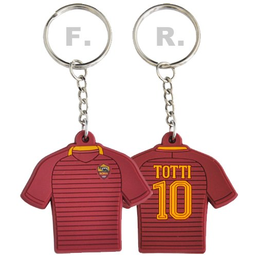 AS ROMA PORTACHIAVI FRANCESCO TOTTI IN GOMMA - AS ROMA OFFICIAL KEYCHAIN FRANCESCO TOTTI SHIRT in RUBBER