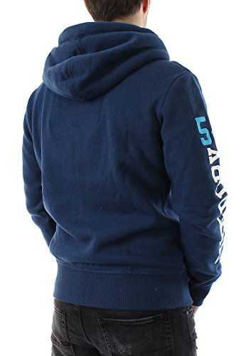 Superdry Sweatjacke Trackster Winter Dunkelblau