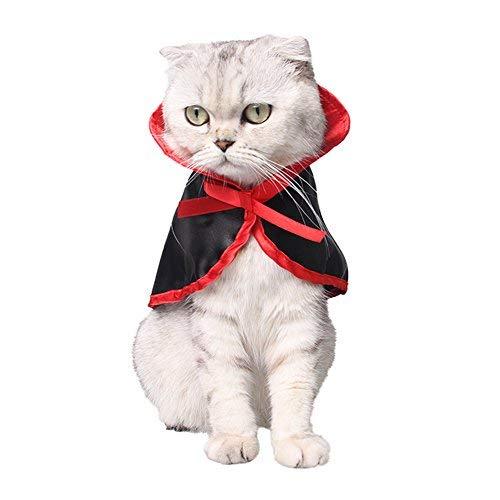 WiseGoods Legend Halloween Pet Kostüme Cute Cosplay Vampir Umhang Cape für Kleine Hunde Katzen