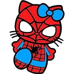 Spiderman Hello Kitty pour vitres de Voitures Murale MacBook Ordinateur Portable pour Ordinateur Portable Autocollant