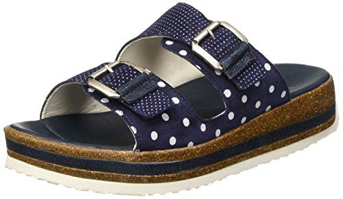 Think!Zega Pantolette - Sandali aperti Donna , Blu (Blau (WATER/KOMBI 86)), 41