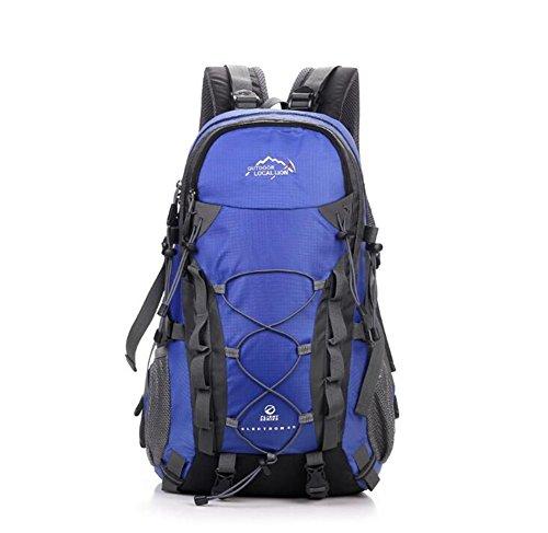 Wmshpeds Alpinismo per esterno in nylon nero neutro / gli uomini e le donne possono essere uomini e donne borsa a tracolla 36-55l alpinismo in borsa B