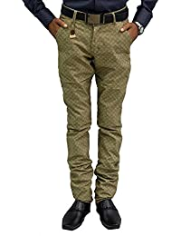Etcetraz Mens Cotton Casual Slim Fit Trouser - B0757DSLXR