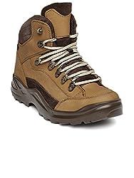 Franco Leone Mens Khaki Boots - 6 UK/India (40 EU)(9916-N)