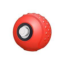 Silicone Funda Portátil para el controlador Poke Ball Plus, estuche de viaje para Pokemon Lets Go Pikachu Eevee Game en rojo / blanco estilo Poke