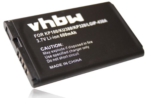 vhbw Li-Ion Akku 600mAh für LG KP100 KP230 KP235 KP 100 230 235 KU380 KU385 KU 380 385 ersetzt SBPL0093301, SBPL0089901