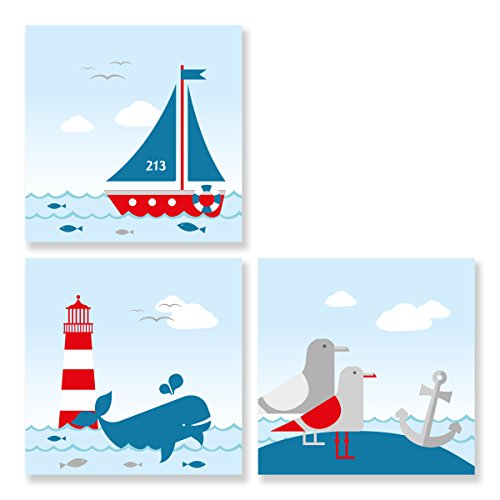 Bilder-Set Sailing Red