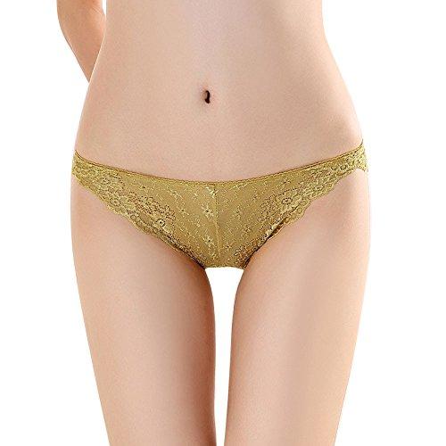 KonJin Damen Unterhosen Spitze String Unterwäsche Tangas Sexy Panties Hipster Dessous Unterkleidung Sexy Lace V-String Slip Höschen Thongs G-String Dessous