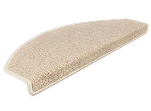 Kettelservice-Metzker Stufenmatten Treppen-Teppich Rambo 15er SparSet 17 Farben Incl. Fleckentferner (-Beige-)