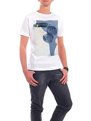 """Design T-Shirt Männer Continental Cotton """"Blue Abstract"""" - stylisches Shirt Abstrakt von Linsay Macdonald Weiß"""