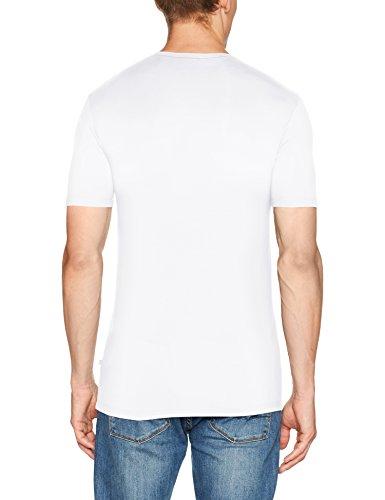HUBER Herren Unterhemd Casual Men Shirt Kurzarm Weiß (Weiss 010500)