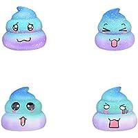 Squishys Grandes kawais,6.5x6.5x6cm Suave Juguetes de Galaxy Caca Squishies Squeeze Toy Slow Rising Decompression Stress Relief Juguete Regalo para niños y Adultos,de Gusspower