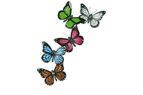 TS Wand-deko, Gardendeco Schmetterlinge, handpainted, mehrfarbig, 24x1x54 cm, 137262